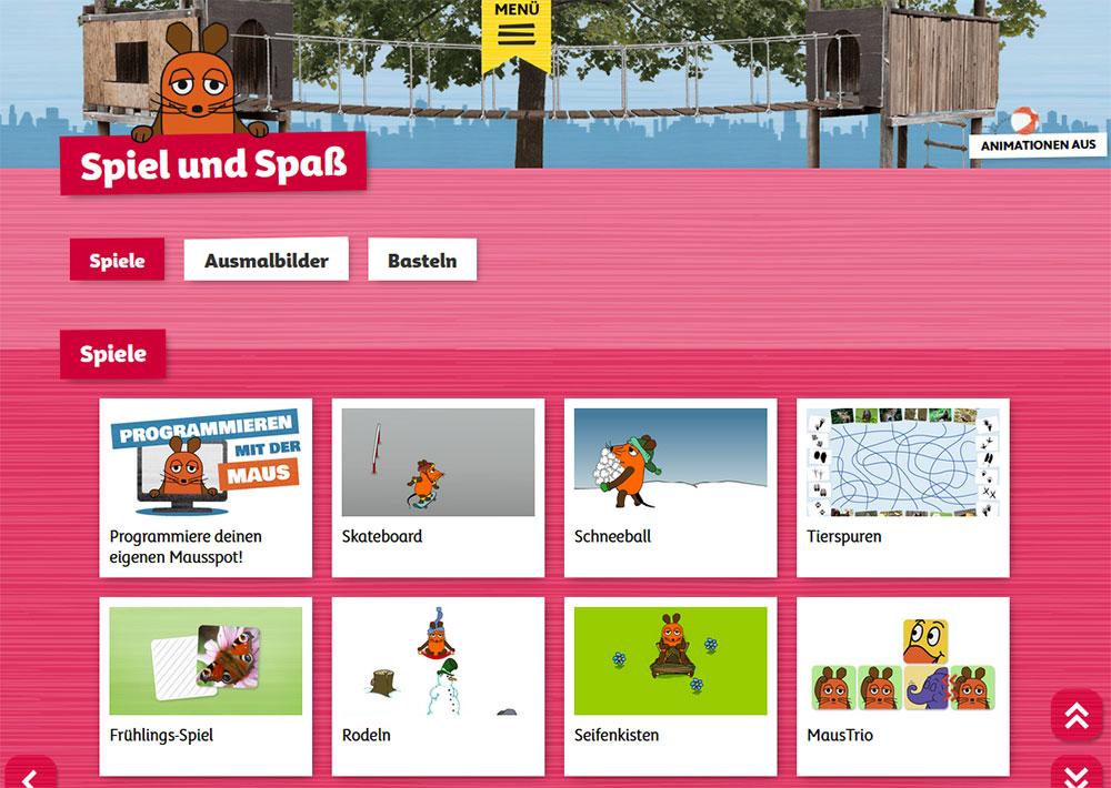 WDR Maus Lernspiele